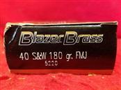 Blazer Brass 40 S&W 180gr FMJ - 50 Rounds